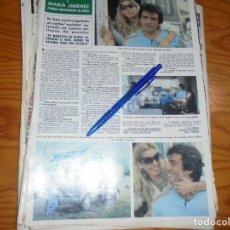 Coleccionismo de Revista Hola: RECORTE PRENSA : MARIA JIMENEZ Y PEPE SANCHO, PRIMER ANIVERSARIO DE BODA. HOLA, JUNIO 1981 (). Lote 156638566