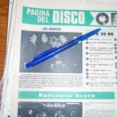 Coleccionismo de Revista Hola: RECORTE PRENSA : EL GRUPO ESPAÑOL, LOS BRINCOS. HOLA, JUNIO 1981 (). Lote 156639518