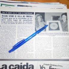 Coleccionismo de Revista Hola: RECORTE PRENSA : DALIDA VENDE SU VILLA DE CORCEGA. HOLA, JUNIO 1981 (). Lote 156639598