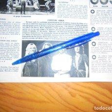 Coleccionismo de Revista Hola: RECORTE PRENSA : ESPECIAL ABBA. HOLA, MARZO, 1982. Lote 156734510