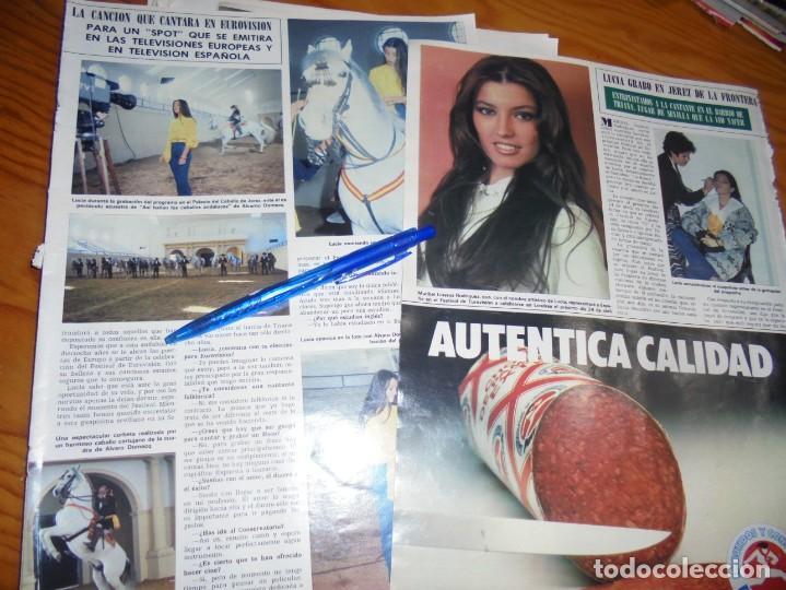 RECORTE PRENSA : LA CANTANTE LUCIA, A EUROVISION. HOLA, MARZO, 1982 (Coleccionismo - Revistas y Periódicos Modernos (a partir de 1.940) - Revista Hola)