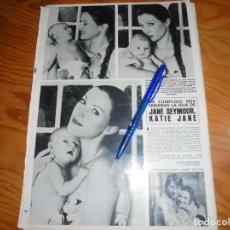 Coleccionismo de Revista Hola: RECORTE PRENSA : JANE SEYMOUR, CON SU HIJA. HOLA, MARZO, 1982. Lote 156736366