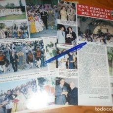 Collectionnisme de Magazine Hola: RECORTE PRENSA : XXX FIESTA DE LA VENDIMIA DEL SHERRY. HOLA, OCTBRE 1982 (). Lote 156961226