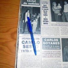 Coleccionismo de Revista Hola: RECORTE PRENSA : CAMILO SESTO Y SU HIJO EN VALENCIA. HOLA, MARZO 1988 (). Lote 157842638
