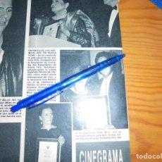 Coleccionismo de Revista Hola: RECORTE PRENSA : ENTREGA PREMIOS ACE EN NUEVA YORK : ROCIO DURCAL. HOLA, MARZO 1988 (). Lote 157843454