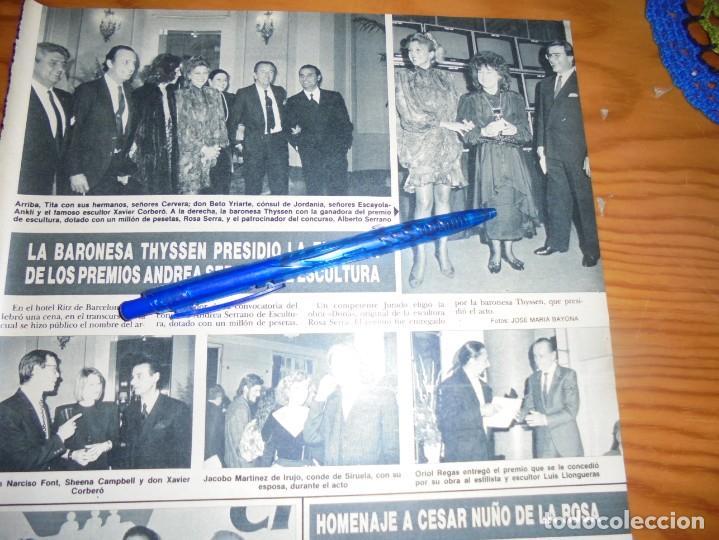 RECORTE PRENSA : LA BARONESA THYSSEN ENTREGA PREMIOS ANDREA SERRANO. HOLA, MARZO 1988 () (Coleccionismo - Revistas y Periódicos Modernos (a partir de 1.940) - Revista Hola)