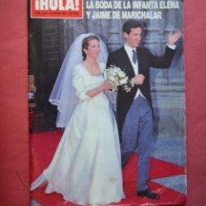 Coleccionismo de Revista Hola: HOLA - OCTUBRE 1999 - BODA INFANTA ELENA Y MARICHALAR . Lote 158146482