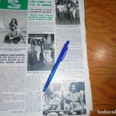 Coleccionismo de Revista Hola: RECORTE PRENSA : LOLA FLORES Y LOLITA, EN CANARIAS. HOLA, OCTB 1983 (). Lote 158199042