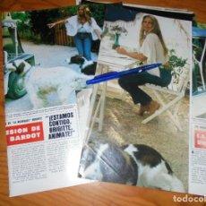 Coleccionismo de Revista Hola: RECORTE PRENSA : BRIGITTE BARDOT, CON DEPRESION. HOLA, NOVBRE 1983 (). Lote 158356502