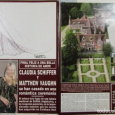 Coleccionismo de Revista Hola: RECORTE REVISTA HOLA Nº 3017 2002 CLAUDIA SCHIFFER Y MATTHEW VAUGHN. Lote 158507562