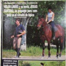 Coleccionismo de Revista Hola: RECORTE REVISTA HOLA Nº 3017 2002 HELEN LINDES Y JOSIAS SANTANA. Lote 158507626