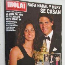 Coleccionismo de Revista Hola: HOLA REVISTA 3888 , 06-02-2019 , RAFA NADAL Y MERY SE CASAN . Lote 158777702