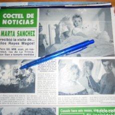 Collezionismo di Rivista Hola: RECORTE PRENSA : MARTA SANCHEZ, RECIBIO LA VISITA DE LOS REYES MAGOS. HOLA, DCBRE 1988 (). Lote 158824150