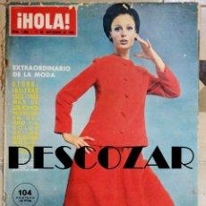 Coleccionismo de Revista Hola: REVISTA HOLA Nº 1098 - 11 SEPTIEMBRE 1965 - JACQUES CHARRIER, FATIMA, FELA ROQUE, ROMY SCHNEIDER. Lote 158856682