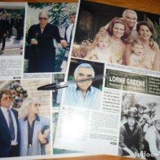 Collectionnisme de Magazine Hola: RECORTE PRENSA : MUERE LORNE GREENE, EL PADRE DE BONANZA. HOLA, OCTBRE 1987 (). Lote 159043646