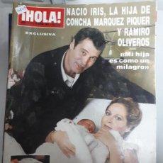 Collectionnisme de Magazine Hola: 14819 - HOLA, Nº 2273, FECHA 10-03-88, PORTADA DE CONCHA MARQUEZ Y RAMIRO OLIVEROS CON SU HIJA IRIS. Lote 159120806