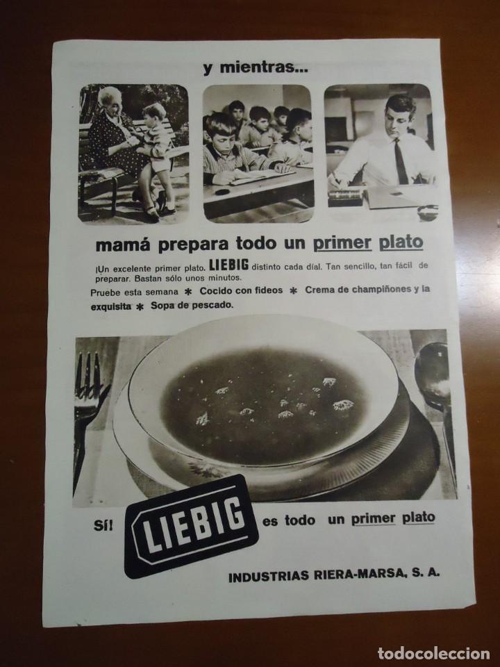 RECORTE PUBLICIDAD LIEBIG REVISTA HOLA AÑO 1965 (Coleccionismo - Revistas y Periódicos Modernos (a partir de 1.940) - Revista Hola)
