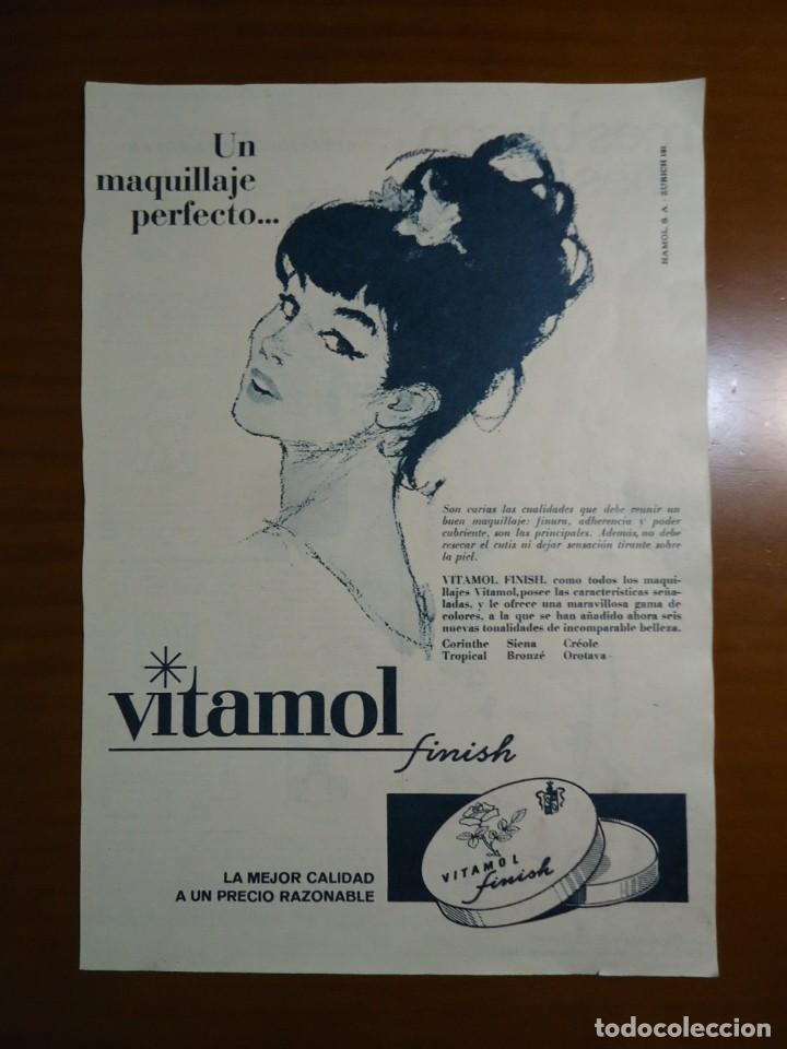 RECORTE REVISTA ANUNCIO DE VITAMOL HOLA DE 1965 (Coleccionismo - Revistas y Periódicos Modernos (a partir de 1.940) - Revista Hola)