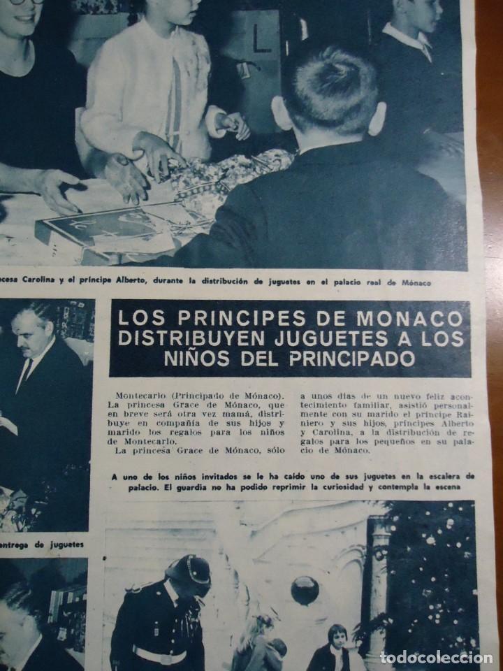 RECORTE REVISTA HOLA AÑO 1965 DE LOS PRINCIPES DE MONACO (Coleccionismo - Revistas y Periódicos Modernos (a partir de 1.940) - Revista Hola)
