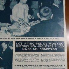 Coleccionismo de Revista Hola: RECORTE REVISTA HOLA AÑO 1965 DE LOS PRINCIPES DE MONACO. Lote 159150786