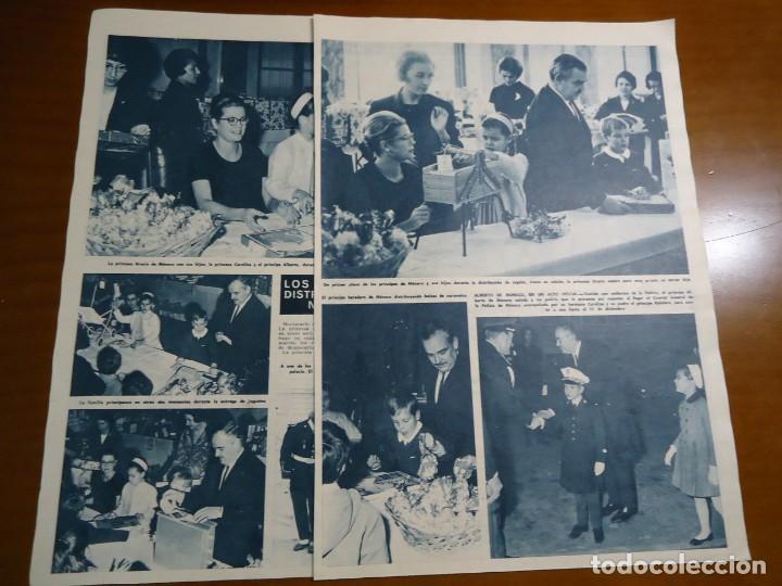 Coleccionismo de Revista Hola: Recorte revista hola año 1965 de los principes de Monaco - Foto 2 - 159150786