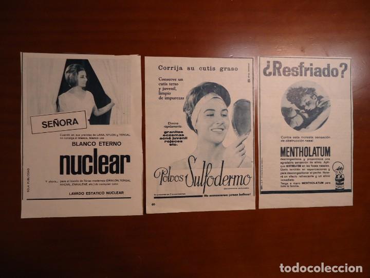 RECORTES DE 3 ANUNCIOS PUBLICITARIOS (Coleccionismo - Revistas y Periódicos Modernos (a partir de 1.940) - Revista Hola)