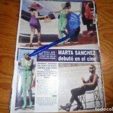 Collezionismo di Rivista Hola: RECORTE PRENSA : MARTA SANCHEZ DEBUTA EN EL CINE CON SUPERNOVA. HOLA, JUNIO 1992 (). Lote 159193474