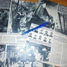 Coleccionismo de Revista Hola: RECORTE : DOLOR POR LOS 10 BOMBEROS MUERTOS EN EL INCENDIO DE ALMACENES ARIAS. HOLA, SPTBRE 1987 . Lote 159197182