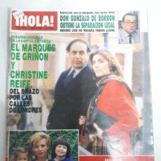 Collectionnisme de Magazine Hola: 14804 - HOLA Nº 2169, DEL 20-03-86, PORTADA DEL MARQUES DE GRIÑON EN LONDRES. Lote 159241754