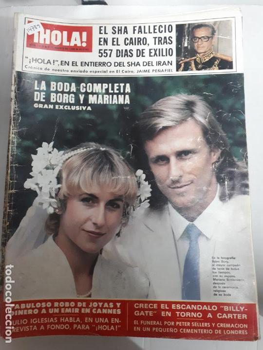 14789 - HOLA Nº 1876, DEL 09-08-80, PORTADA DE BORG Y MARIANA (Coleccionismo - Revistas y Periódicos Modernos (a partir de 1.940) - Revista Hola)