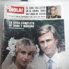 Collectionnisme de Magazine Hola: 14789 - HOLA Nº 1876, DEL 09-08-80, PORTADA DE BORG Y MARIANA. Lote 159261418