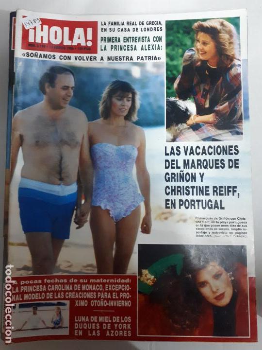 14783 - HOLA Nº 2190, DEL 12-08-86, PORTADA DEL MARQUES DE GRIÑON Y CHRISTINE (Coleccionismo - Revistas y Periódicos Modernos (a partir de 1.940) - Revista Hola)