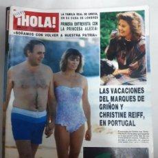 Collectionnisme de Magazine Hola: 14783 - HOLA Nº 2190, DEL 12-08-86, PORTADA DEL MARQUES DE GRIÑON Y CHRISTINE. Lote 159264818