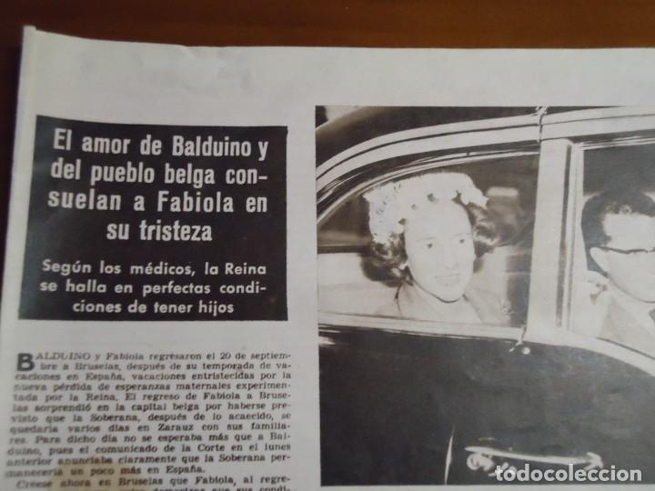 RECORTE REVISTA HOLA AÑO 1963 ARTICULO DE FABIOLA (Coleccionismo - Revistas y Periódicos Modernos (a partir de 1.940) - Revista Hola)