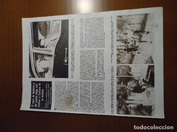 Coleccionismo de Revista Hola: Recorte revista hola año 1963 articulo de Fabiola - Foto 2 - 159361274