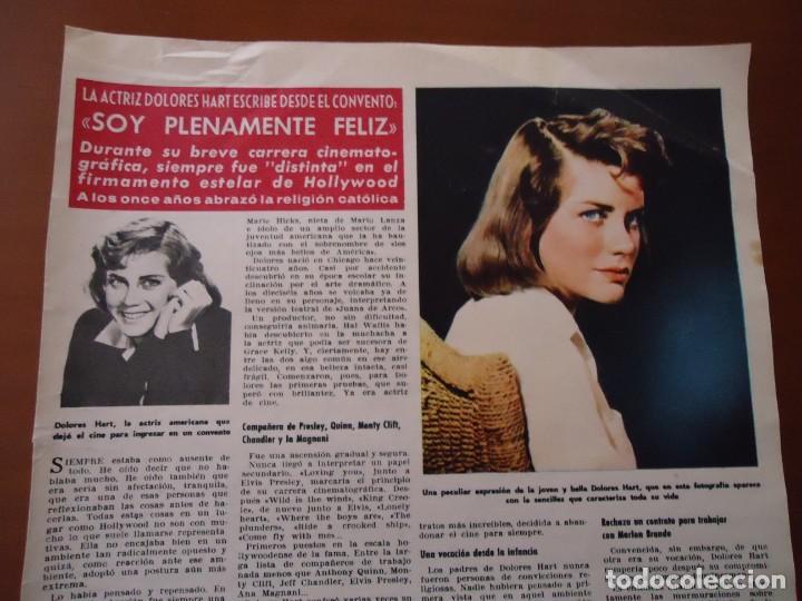 RECORTE REVISTA HOLA AÑO 1963 ARTICULO DOLORES HART (Coleccionismo - Revistas y Periódicos Modernos (a partir de 1.940) - Revista Hola)