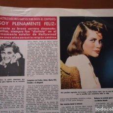 Coleccionismo de Revista Hola: RECORTE REVISTA HOLA AÑO 1963 ARTICULO DOLORES HART. Lote 159362302