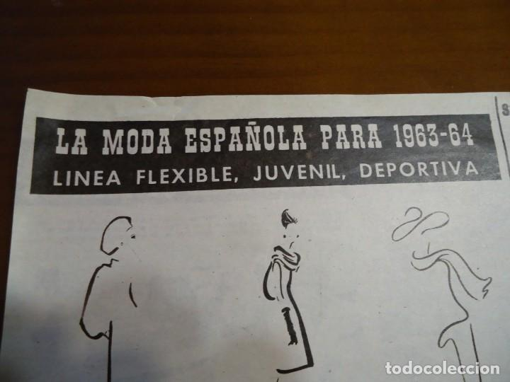 RECORTE REVISTA HOLA AÑO 1963 ARTICULO MODA ESPAÑOLA PERTEGAZ,PEDRO RODRIGUEZ.... (Coleccionismo - Revistas y Periódicos Modernos (a partir de 1.940) - Revista Hola)