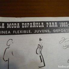 Coleccionismo de Revista Hola: RECORTE REVISTA HOLA AÑO 1963 ARTICULO MODA ESPAÑOLA PERTEGAZ,PEDRO RODRIGUEZ..... Lote 159362810