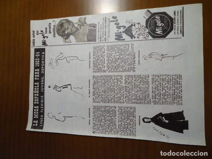 Coleccionismo de Revista Hola: Recorte revista hola año 1963 articulo moda española Pertegaz,Pedro Rodriguez.... - Foto 2 - 159362810