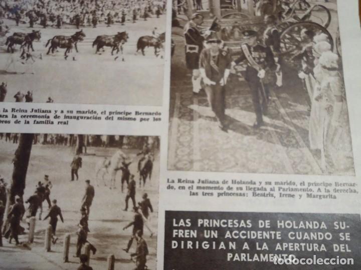 RECORTE REVISTA HOLA AÑO 1963 ARTICULO SOBRE EL ACCIDENTE DE LAS PRINCESAS DE HOLANDA (Coleccionismo - Revistas y Periódicos Modernos (a partir de 1.940) - Revista Hola)