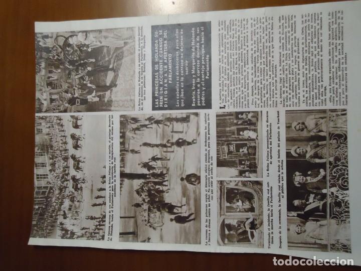 Coleccionismo de Revista Hola: Recorte revista hola año 1963 articulo sobre el accidente de las princesas de Holanda - Foto 2 - 159363010
