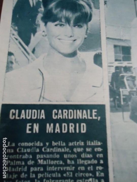 RECORTE REVISTA HOLA AÑO 1963 PEQUEÑO ARTICULO CLAUDIA CARDINALE (Coleccionismo - Revistas y Periódicos Modernos (a partir de 1.940) - Revista Hola)