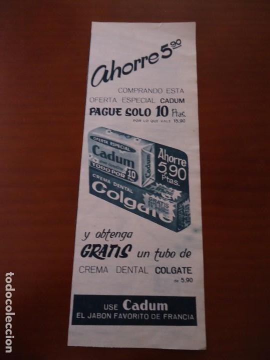 Coleccionismo de Revista Hola: Recorte revista hola año 1963 publicidad Cadum - Foto 2 - 159363762