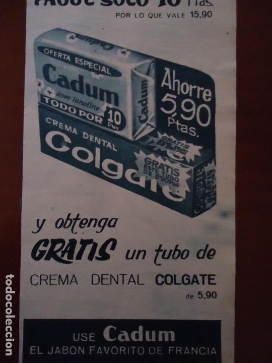 RECORTE REVISTA HOLA AÑO 1963 PUBLICIDAD CADUM (Coleccionismo - Revistas y Periódicos Modernos (a partir de 1.940) - Revista Hola)