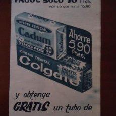 Coleccionismo de Revista Hola: RECORTE REVISTA HOLA AÑO 1963 PUBLICIDAD CADUM . Lote 159363762