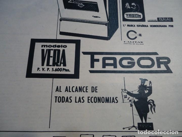 RECORTE REVISTA HOLA AÑO 1963 PUBLICIDAD DE ELECTRODOMESTICOS FAGOR (Coleccionismo - Revistas y Periódicos Modernos (a partir de 1.940) - Revista Hola)