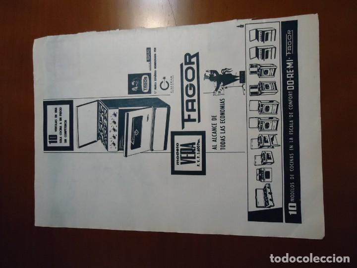 Coleccionismo de Revista Hola: Recorte revista hola año 1963 publicidad de electrodomesticos Fagor - Foto 2 - 159364302