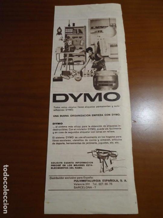 Coleccionismo de Revista Hola: Recorte revista hola año 1963 publicidad etiquetas Dymo. - Foto 2 - 159364606
