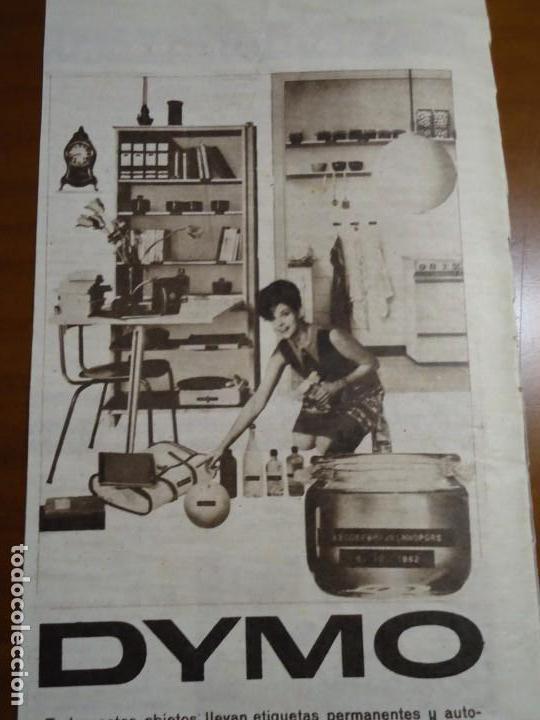 RECORTE REVISTA HOLA AÑO 1963 PUBLICIDAD ETIQUETAS DYMO. (Coleccionismo - Revistas y Periódicos Modernos (a partir de 1.940) - Revista Hola)